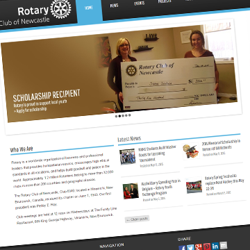 Newcastle Rotary Club Website Design, Website Development, Application Development, Business Applications, Internet Marketing, and Internet Advertising
